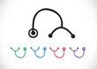 stethoscope icons