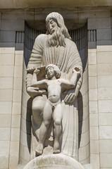 BBC Facade statue