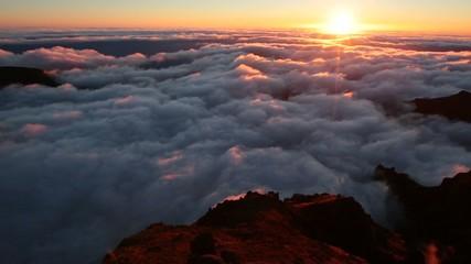 Pico do Areeiro mountain peaks in Madeira, Portugal