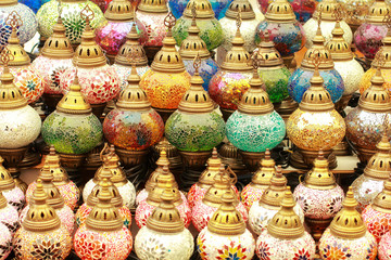 Turkish multicolored lanterns
