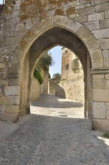 Stone arch in Trujillo, Spain