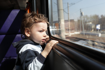 Boy in train