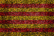 Catalonia Flag color grass texture background