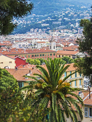 Nice, France, on July 1, 2011. View of Nice. View from a high po