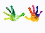 watercolor handprint