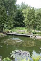 small lake in english garden