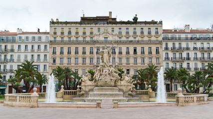 Place de la Liberté - fountain of Liberty square in Toulon
