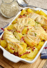 French traditional potato gratin tartiflette
