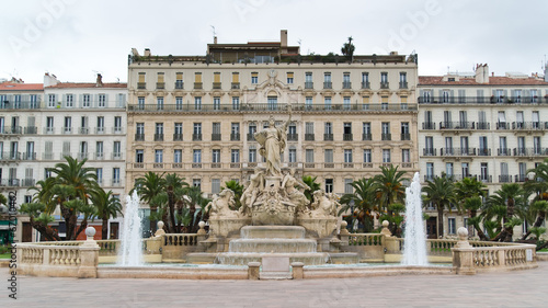 Place de la Liberté - fountain of Liberty square in Toulon - 67010462