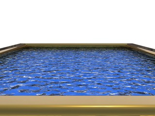 A Swimming pool. 3D rendered Illustration. Isolated on white