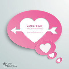 Infographics Background Speech Balloon, Cupid's Arrow