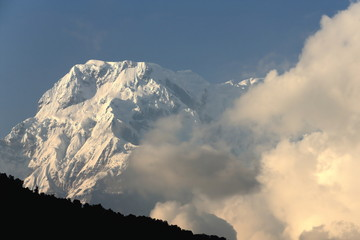 The Annapurna South mountain seen from Dhampus-Nepal. 0507