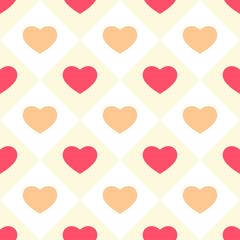 Hearts seamless background 5