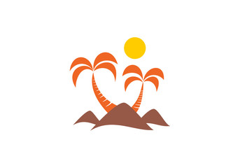 palm tree desert vector