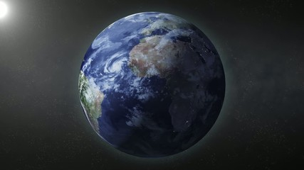 Rotating earth in loop mode