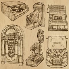 old objects no.3 - hand drawn vector collection