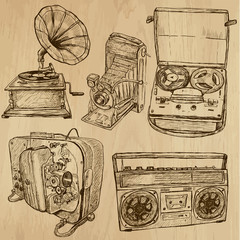 old objects no.4 - hand drawn vector collection