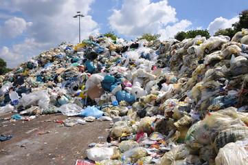 Müllkippe, Deponie, Plastikmüll, Verpackungen, Abfallwirtschaft