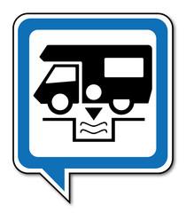Logo camping car.