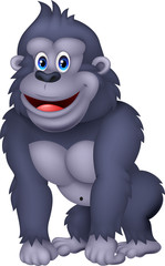 Happy gorilla cartoon