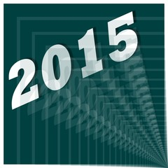 2015 - Jahreszahl abstrakt Sivesterrakete