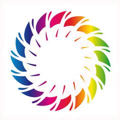 rainbow color ornament