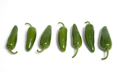 Row of Hot Japapeno Peppers