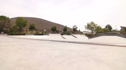 Man Skateboarding In Skatepark