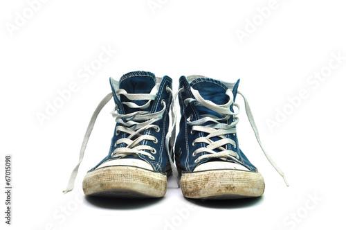 Leinwandbild Motiv old sneakers