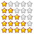 Game web rating stars set