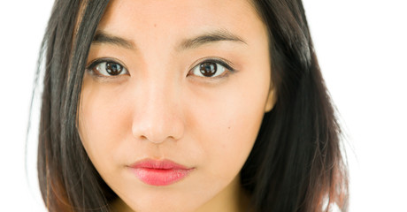 Face of a young Asian beautiful woman