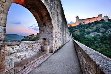 La Rocca vista dal Ponte delle Torri, Spoleto