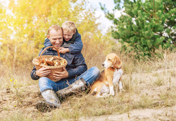 Happy autumn leisure - mushroom picking
