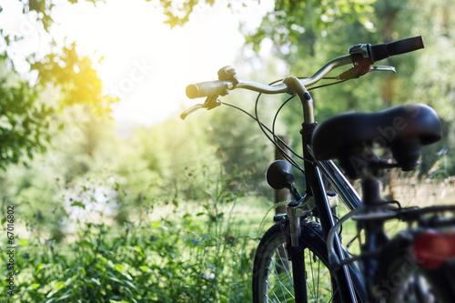 Foto op Plexiglas Fietsen Fahrrad in der Natur