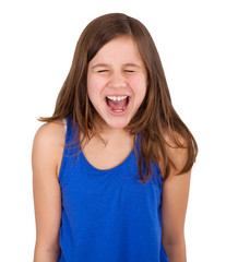 girl screaming