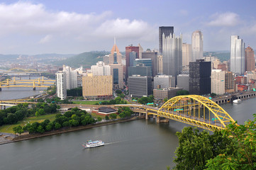 City of Pittsburgh during late afternoon