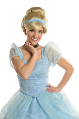 Young Woman Dressed in Princess Costume