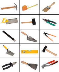 Collage of many different tools