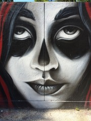 woman face representation on a wall