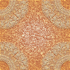 Vintage greeting or invitation card, lace doily
