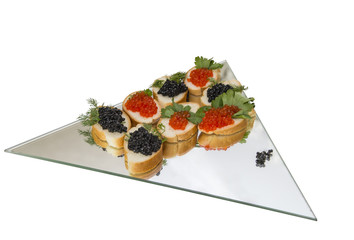 sandwiches with fish roe