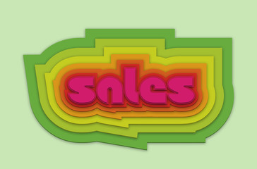 colorful sales vector
