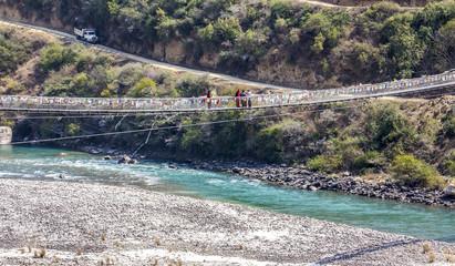 Bhutans longest suspension bridge
