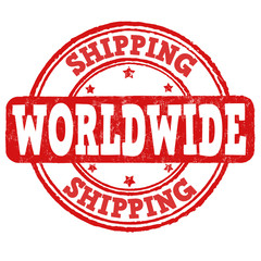 Shipping worldwide stamp