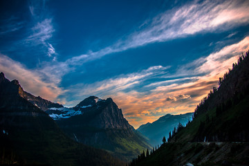 Sunset Over Glacier