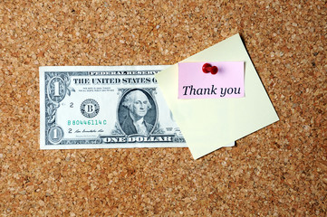 dollar sticky note