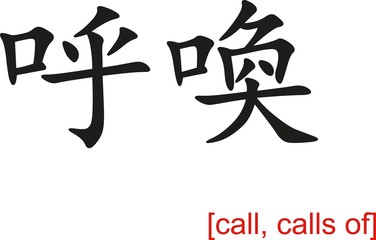 Chinese Sign for call, calls of