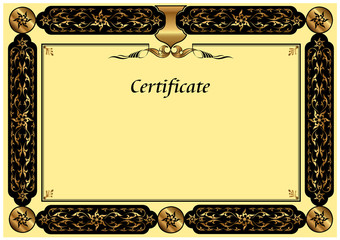 Turkish Gold Certificate Template