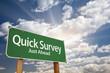 Quick Survey Green Road Sign