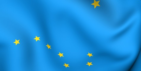 Flag of Alaska, USA.